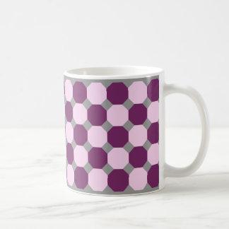 Dark Purple and Pink Octagon Mug