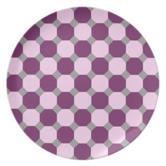 Dark Purple and Pink Octagon Plate