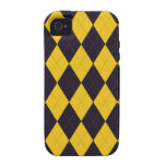 Dark Purple and Yellow Arglye iPhone 4 TOUGH Case Case For The iPhone 4