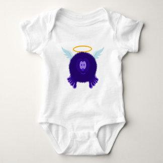 Dark Purple Angel Pom Pom Pal Baby Bodysuit