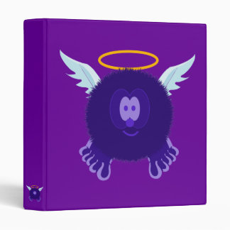 Dark Purple Angel Pom Pom Pal Binder