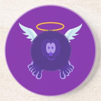 Dark Purple Angel Pom Pom Pal Coaster