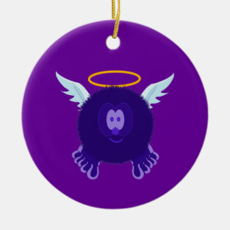 Dark Purple Angel Pom Pom Pal Ornament