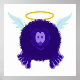 Dark Purple Angel Pom Pom Pal Poster Print