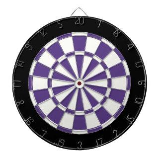 Dark Purple Black And White Dartboards