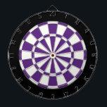 "Dark Purple Black And White Dartboard<br><div class=""desc"">Dark Purple Black And White Dart Board</div>"