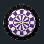 "Dark Purple Black And White Dartboard<br><div class=""desc"">Dark Purple Black And White Dart Board</div>"