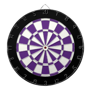 Dark Purple Black And White Dartboard