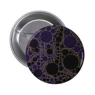 Dark Purple Blue Abstract Pinback Button