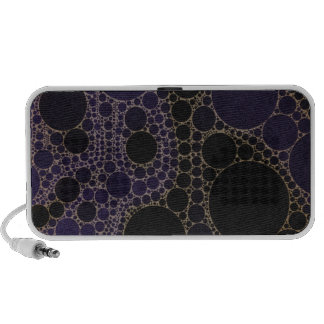Dark Purple Blue Abstract Speaker