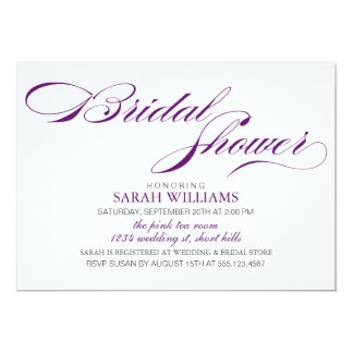 Dark Purple Bridal Shower Card