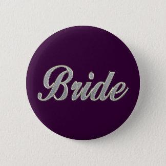 Dark Purple Bride with bling Button