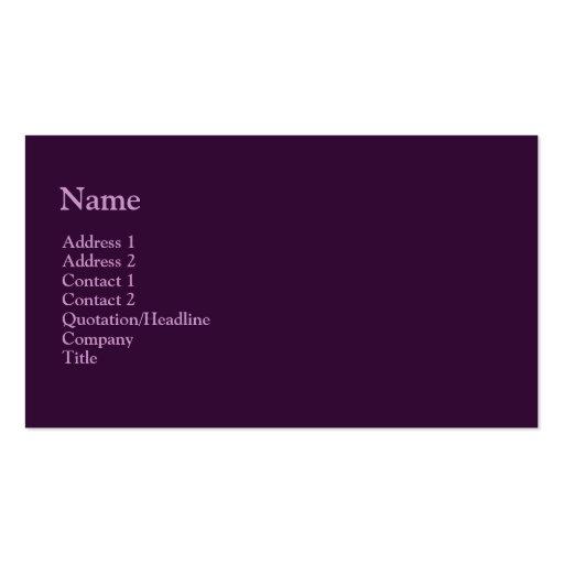dark purple business card template