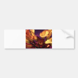 Dark Purple Calla Lilies Bumper Sticker
