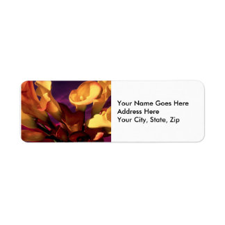 Dark Purple Calla Lilies Label
