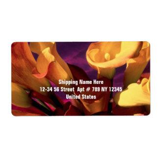 Dark Purple Calla Lilies Shipping Label