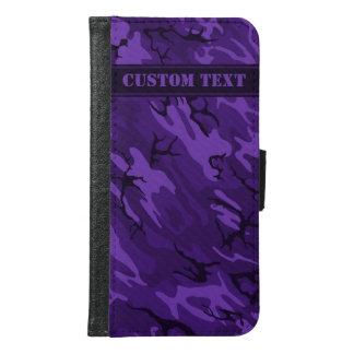 Dark Purple Camo Smartphone Wallet w/ Custom Text