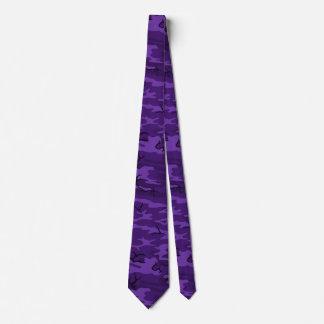 Dark Purple Camo Tie