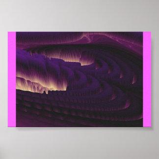 Dark Purple Canyon Poster