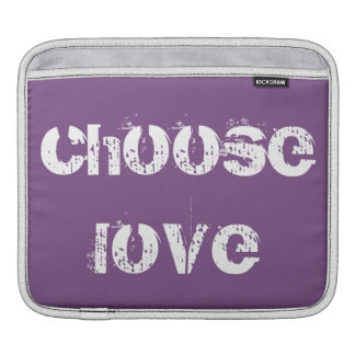 Dark Purple Choose Love iPad and Mac Laptop Sleeve