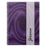 Dark purple circular abstract notebook