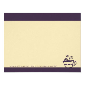 Dark Purple Coffee Cup Note Cards
