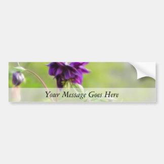 Dark Purple Columbine Bumper Sticker