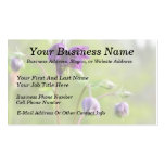 Dark Purple Columbine Double-Sided Standard Business Cards (Pack Of 100)