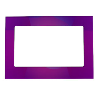 Dark Purple Cool Abstract Art Picture Frame Magnet