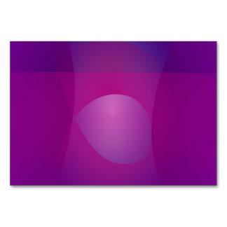 Dark Purple Cool Abstract Art Table Card