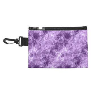 Dark Purple Crumpled Texture Accessory Bag