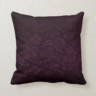 Dark Purple Damask Look Cushion