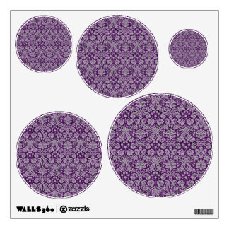 Dark Purple Damask Room Graphics