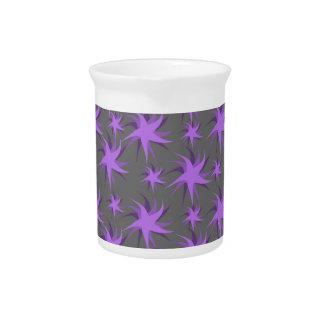 Dark Purple Dancing Stars Beverage Pitcher