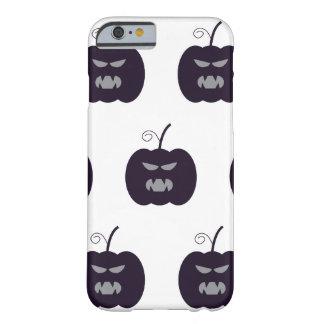 Dark purple devil pumpkin Halloween Barely There iPhone 6 Case