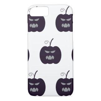 Dark purple devil pumpkin Halloween iPhone 8/7 Case