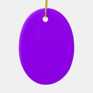 Dark purple Double-Sided oval ceramic christmas ornament