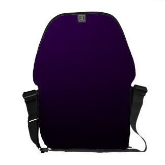 Dark Purple Fade on Black Messenger Bag