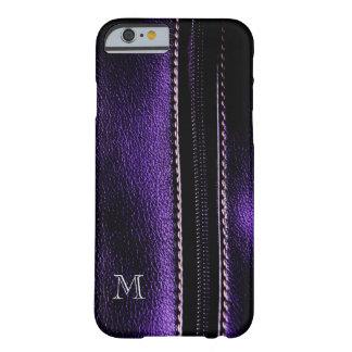 Dark Purple Faux Zipper Monogram iPhone6 Case Barely There iPhone 6 Case