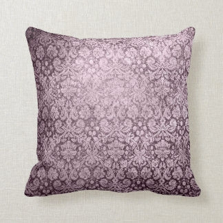 Dark Purple Florish Throw Pillow