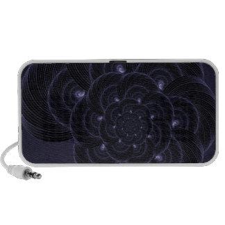 Dark Purple Flower Graphic. Spiral. Mini Speaker