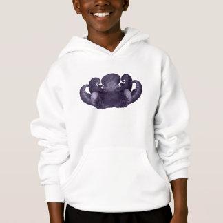 Dark Purple Fractal Curly Octopus Composite Art Hoodie