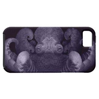 Dark Purple Fractal Curly Octopus Composite Art iPhone SE/5/5s Case