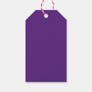 Dark Purple Pack Of Gift Tags