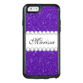 Dark Purple Glitter Custom OtterBox iPhone 6 Case