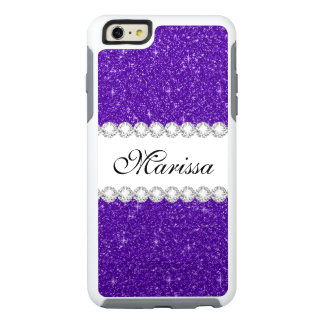 Dark Purple Glitter Custom OtterBox iPhone 6 Case