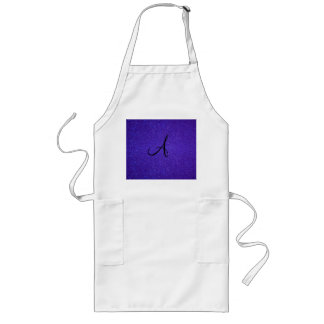 Dark purple glitter monogram gifts long apron