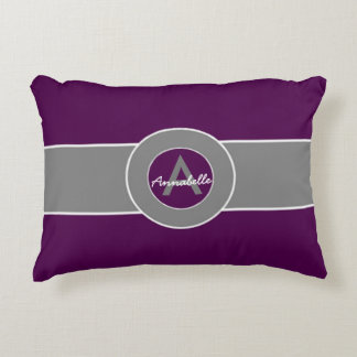 Dark Purple Gray Accent Pillow