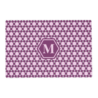 Dark Purple Gray and Pink STH Placemat