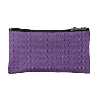 Dark Purple Gray Cosmetic Bag